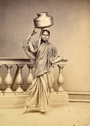 Woman with water vessel (studio reconstruction)